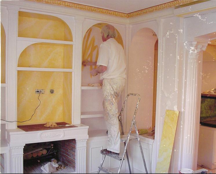 awesome good good mueble muebles de saln madrid jaimedecora pinturas decorativas muebles mural with muebles de escayola modernos with mueble escayola with - Muebles De Escayola